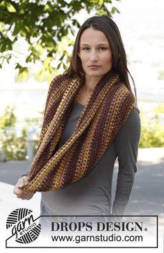 Ravelry: Jasmine - Neck warmer in Big Delight pattern by DROPS design Drops Design, Knit Or Crochet, Crochet Scarves, Crochet Hats, Free Crochet, Magazine Drops, Cowl Scarf, Free Knitting, Crochet Patterns