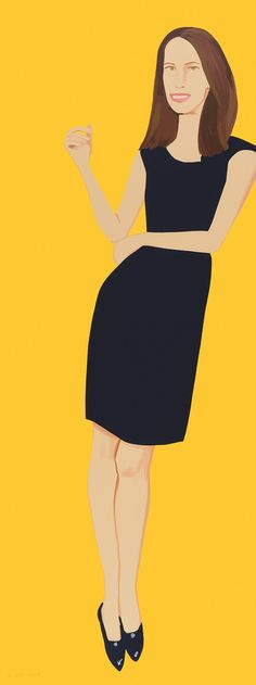 ALEX KATZ - BLACK DRESS (CHRISTY) - WENG CONTEMPORARY http://www.widewalls.ch/artwork/alex-katz/black-dress-christy/ #print