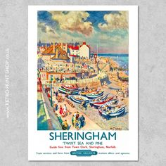 Railway Posters, Travel Posters, Vintage Posters, Poster Prints, British, Train, Retro, Painting, Shopping
