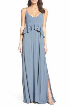 Roe + May Jolie Crepe Peplum Dress