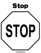 Traffic signs and signals coloring pages. Stop Coloring Page