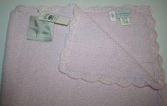 "Little Me Pink Chenille Baby Blanket soft plush Soft security 30"" Signature NWT #LittleMe #ChenilleBabyBlanket"