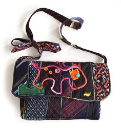 Kesidov -Equestrian Bag, made of upcycled neckties.