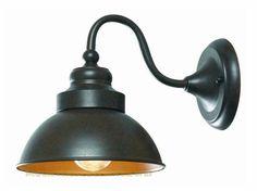 Outdoor Goose Neck Light Bronze Lamp Sconce Lighting Fixtures Street Wall Barn