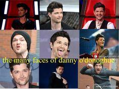 Many faces of Danny O Donoghue