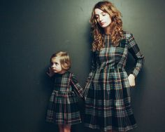 Tartan matching dresses for mother and daughter. Beautiful handmade dresses for mother and daughter.  Fabric: 65% polyester 35% viscose  Silhouette: -