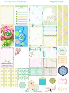 Free Printable Easter Planner Sticker Sampler from Mint Fox Stationary {store checkout required}