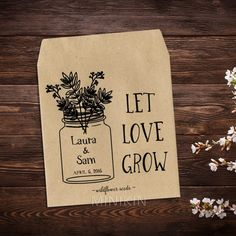 Rustic Wedding Seed Packets Favor – W-A128