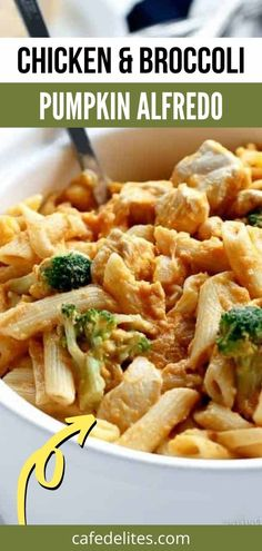 Creamy chicken and broccoli pumpkin alfredo is total comfort food. This recipe makes a healthier alfredo sauce made with pumpkin instead of flour, with tender chicken breast pieces and broccoli. Perfect with any pasta. So creamy, full of beautiful moth watering flavours, with the perfect cheese touch from the parmesan, turns this into a bowl of pumpkin and pasta addiction.