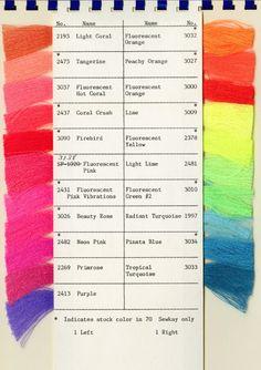 neon colour spectrum