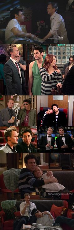 Based on these facial expressions and the way they are dressed, any HIMYM watcher can probably assume the thoughts of Barney and Ted.