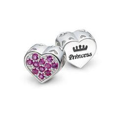 Pingente Prata Coração Princess Rubi Life