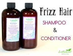 Bye Bye Frizz - Just Natural Frizz Hair Shampoo & Conditioner- Review & Photos - Beautetude