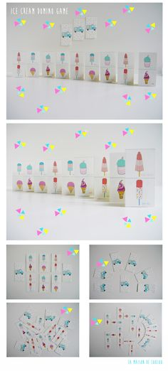 ****miss Louise printable ice cream DOMINO game***** :: La maison de loulou Printable Crafts, Free Printables, Diy For Kids, Crafts For Kids, Popsicle Party, Do It Yourself Crafts, Second Weddings, Diy Toys, Box Design