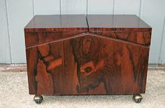 1940s bar cart | Details about Lane Rolling Coffee Table/Bar Cart in Rosewood Veneer ...