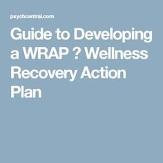 Wellness Recovery Action Plan Worksheet Template  Excel Project