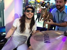 Lil B joined Andrew WK during the #OMusicAwards #Drumathon and it was amazing.