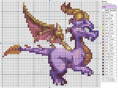 Spyro the Dragon by Makibird-Stitching.deviantart.com on @deviantART