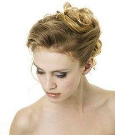 wedding updos for medium length hair   Messy French Twist Wedding Hairstyles For Medium Length Hair