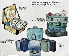 vivian swift on pinterest | Luggage tricks by VIVIAN SWIFT | Watercolor Whimsy
