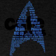 Star Trek Quotes (Insignia) T-Shirt T-Shirt on CafePress.com