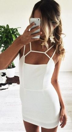 Strappy Little White Dress                                                                             Source