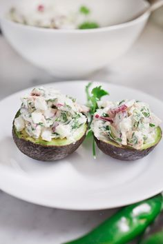 Picante Tuna Salad stuffed Avocados!
