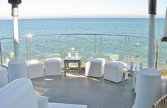 Call (310) 882-5039 if you are looking for CA ceremony officiants. https://OfficiantGuy.com This pin is: The oceanfront terrace at Malibu Beach Inn is available for holiday parties, corporate events, weddings and more.