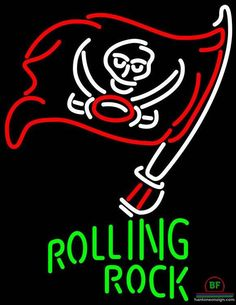 Rolling Rock Tampa Bay Buccaneers Neon Sign NFL Teams Neon Light
