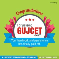 #Congratulations to all the #students who have cleared their #GUJCET #exams. Everyone has the capability and intellect of mind but only few students are able to use their presence of mind and achieve success. Keep up the good work and continue to #aim high. KJIT Engineering College - Savli wishes you all the very best for your #future #ambitions. Now you are now one step closer to your #dream for becoming an #Engineer. #results #GUJCETresults2017 #gujcet #wishes