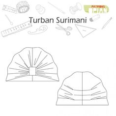 Buy the Surimani Turban sewing pattern from Opian, it is gathered at the front and pleated at the back and can be made in many different fabrics.Opian offers you this beautiful sewing pattern Surimani that will allow you to make a summer or winter turbane Baby Turban, Turban Headbands, Headband Hairstyles, Sewing Blogs, Sewing Projects, Turban Tutorial, Turban Hijab, Blog Couture, Knitted Hats