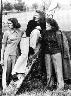 "kittypackards: ""Katharine Hepburn and sisters, Marion and Margaret. """