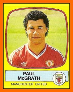 Old School Panini: UK Football Team - Manchester United 1988