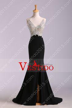 2014 completa con cuentas de tul Negro tribunalcola vestido de blusa Backless Sexy gasa