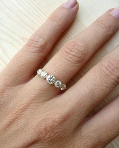 Work ring? Maybe one day! 5 Stone Bezel Set Diamond Band by kateszabone on Etsy, $3200.00