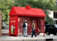 Little red house bus stop - photo from PuroMarketing