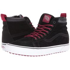 376d9e0ff29e7a Vans SK8-Hi MTE ((MTE) Black Beet Red) Skate Shoes ( 85) ❤ liked on  Polyvore featuring shoes