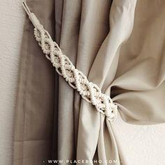 Macrame Curtain Tie Backs, 2 pcs, Cotton Rope Curtain Tie Backs, Nursery Curtain Tie Backs, Curtain Macrame Curtain, Macrame Plant Hangers, Macrame Bag, Macrame Knots, Micro Macrame, Art Macramé, Diy Accessoires, Bon Weekend, Bohemian Accessories