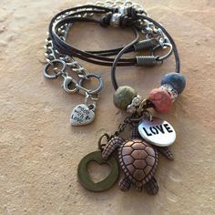 Boho Turtle Love Necklace by TheGypsyRoseBoutique on Etsy