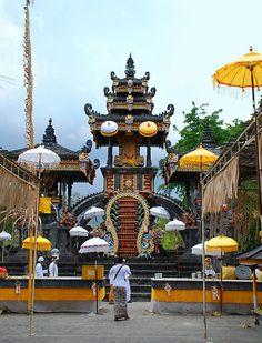 Agung Temple, main altar, in Bali, Indonesia