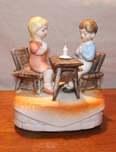 Vintage Sankyo Music Box Children Praying by MoonbearConnections