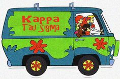 Kappa Tau Sigma | Mystery Machine, Scooby-Doo theme! Join the adventure! #greeklife #recruitment #rush #pledge #sorority #greek #sisterhood