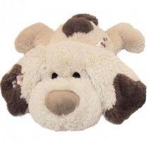 Hond Benek, Grappige liggende pluchen puppy gemaakt van hoge kwaliteit pluche. Met een polka-dot strikje in de nek. Benek de hond is je beste vriend en niet alleen voor de kleintjes. Een mooi groot cadeau.