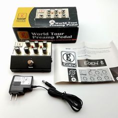 07c057079500 Eden WTDI World Tour Direct Box preamp Di Bass Pedal 3 Stage EQ Power  Supply for sale online