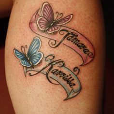 tattoos with kids names tattoos for women + tattoos for women small + tattoos for guys + tattoos for moms with kids + tattoos for women meaningful + tattoos with meaning + tattoos for daughters + tattoos with kids names Oma Tattoos, Baby Tattoos, Tatoos, Mom Tattoo Designs, Tattoo Designs And Meanings, Butterfly Name Tattoo, Butterfly Tattoos With Names, Grandchildren Tattoos, Daughters Name Tattoo