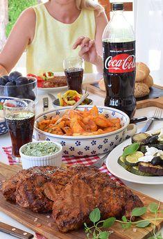 karkówka z grilla Ratatouille, Coca Cola, Grilling, Curry, Beef, Chicken, Dinner, Food, Rezepte