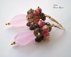 Summer Flower in delicate earrings by ChaninBijoux on Etsy, $69.00