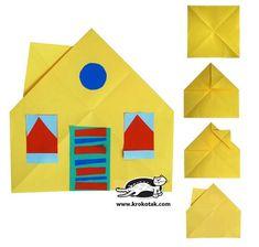 Collage HOUSE; vouwen-knippen-plakken