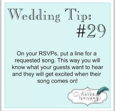 Rsvp a song on wedding invite
