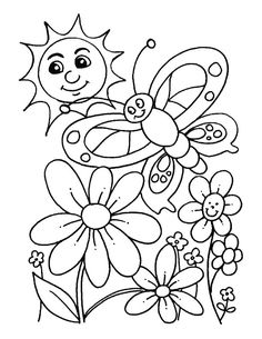spring color pages 9 spring coloring pages | Inspire Kids | Add color code to practice numbers :)